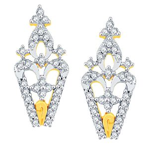 Vipul,Arpera,Clovia,Oviya,Sangini Diamond Jewellery - Sangini Yellow Gold Diamond Earrings ADE00555SI-JK18Y