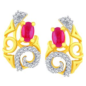 Soie,Port,Ag,Asmi,Cloe,Gili Women's Clothing - Gili Yellow Gold Diamond Earrings BAEP609SI-JK18Y
