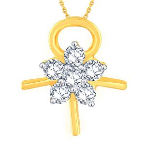 Diamond Pendants, Sets - Nakshatra Yellow Gold Diamond Pendant AP179SI-JK18Y