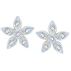 Surat Tex,Soie,Jagdamba,Sangini,Jpearls,Lime Women's Clothing - Sangini Yellow Gold Diamond Earrings JE182SI-JK18Y