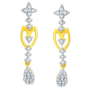 Asmi Yellow Gold Diamond Earrings Nerb384si-jk18y