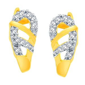 Gili Yellow Gold Diamond Earrings Pe13068si-jk18y