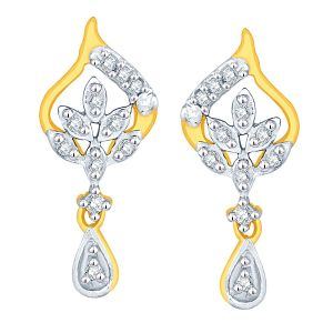 Hoop,Asmi,Kalazone,Tng,Lime,Ag Women's Clothing - Asmi Yellow Gold Diamond Earrings ADE01291SI-JK18Y