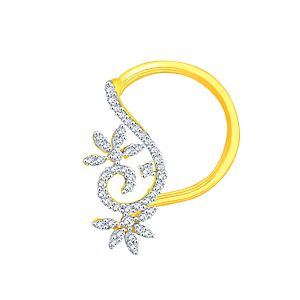 Shuddhi Yellow Gold Diamond Nosepin Aon124si-jk18y