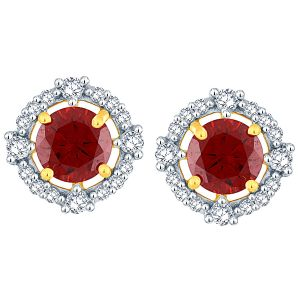 Triveni,Pick Pocket,Parineeta,Mahi,Bagforever,Jagdamba,Lime Women's Clothing - Parineeta Yellow Gold Diamond Earrings BAEP325SI-JK18Y