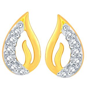 Shuddhi Yellow Gold Diamond Earrings Ide00670si-jk18y