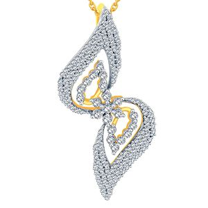 Nakshatra Yellow Gold Diamond Pendant Aap059si-jk18y