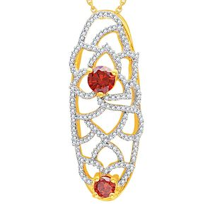Kiara,Sukkhi,Ivy,Parineeta,Kaamastra Diamond Jewellery - Parineeta Yellow Gold Diamond Pendant ABP190SI-JK18Y