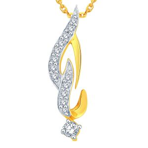 Asmi,Platinum,Vipul Women's Clothing - Asmi Yellow Gold Diamond Pendant ADP00043SI-JK18Y