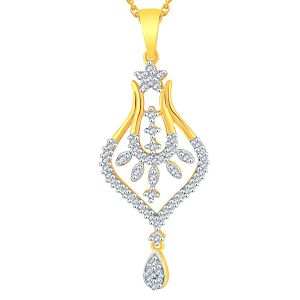 Kiara,Sukkhi,Ivy,Avsar,Sangini,The Jewelbox,Oviya Women's Clothing - Sangini Yellow Gold Diamond Pendant ADP00737SI-JK18Y