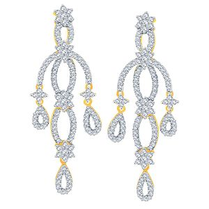 Nakshatra Yellow Gold Diamond Earrings Nerb262si-jk18y
