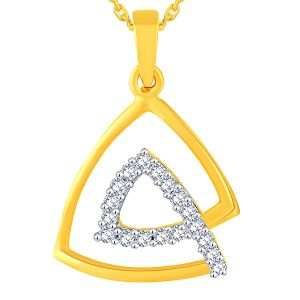 triveni,tng,jagdamba,see more,kalazone,flora,gili Diamond Pendants, Sets - Gili Yellow Gold Diamond Pendant OPL787SI-JK18Y