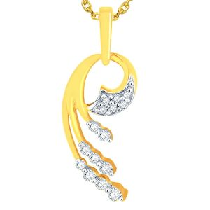 Triveni,Lime,La Intimo,Pick Pocket,Clovia,Gili Diamond Jewellery - Gili Yellow Gold Diamond Pendant OPM942SI-JK18Y