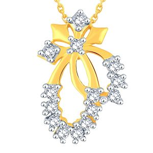 Hoop,Asmi,Tng Women's Clothing - Asmi Yellow Gold Diamond Pendant P24B00136SI-JK18Y