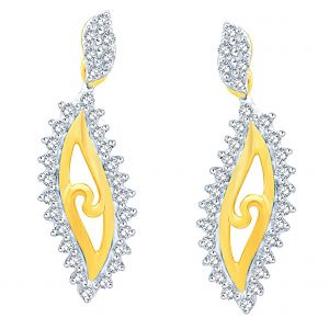 Soie,Flora,Oviya,Asmi,Pick Pocket Diamond Jewellery - Asmi Yellow Gold Diamond Earrings PRA1E3608SI-JK18Y