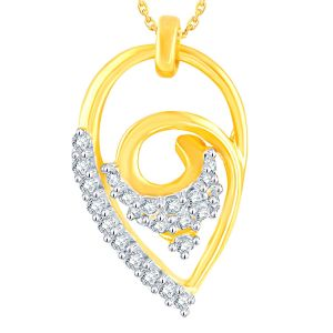 Triveni,My Pac,Sangini,Gili,Sukkhi Women's Clothing - Gili Yellow Gold Diamond Pendant YPM281SI-JK18Y