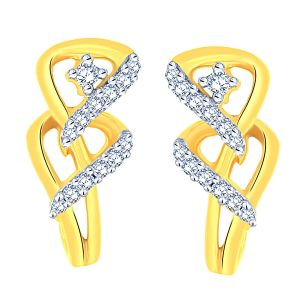 Hoop,Arpera,The Jewelbox,Gili,Bagforever,Triveni Women's Clothing - Gili Yellow Gold Diamond Earrings AAEP093SI-JK18Y