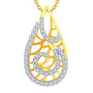 Sukkhi,Sangini,Lime,Gili Women's Clothing - Gili Yellow Gold Diamond Pendant OPL227SI-JK18Y