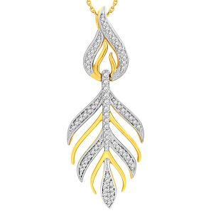 Gili Diamond Pendants, Sets - Gili Yellow Gold Diamond Pendant YPL067SI-JK18Y