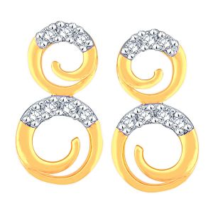 Triveni,La Intimo,Fasense,Gili Women's Clothing - Gili Yellow Gold Diamond Earrings DDE02029SI-JK18Y