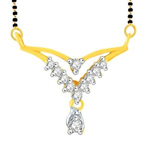 Gili Yellow Gold Diamond Mangalsutra Fp424si-jk18y