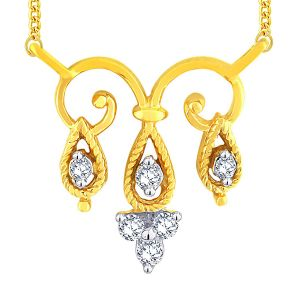 Triveni,Pick Pocket,Shonaya,Jpearls,Sangini Diamond Jewellery - Sangini Yellow Gold Diamond Tanmaniya KP418SI-JK18Y