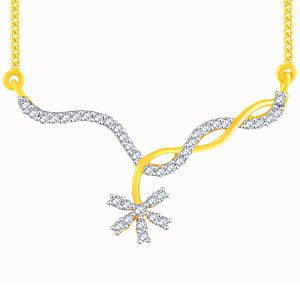 Asmi,Platinum,Ivy,Unimod,Ag,Clovia Women's Clothing - Asmi Yellow Gold Diamond Tanmaniya OPL520SI-JK18Y