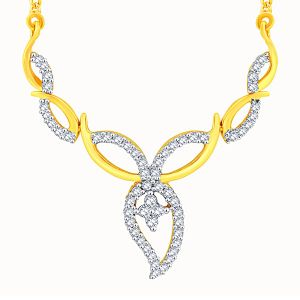 Asmi,Platinum,Ivy,Unimod Diamond Jewellery - Asmi Yellow Gold Diamond Tanmaniya OPL524SI-JK18Y