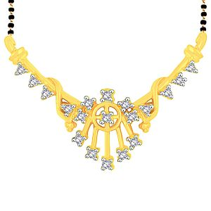 Asmi Yellow Gold Diamond Mangalsutra Pra1t3213si-jk18y