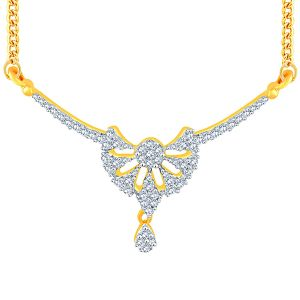 Diamond Mangalsutras - Sangini Yellow Gold Diamond Tanmaniya UP062SI-JK18Y