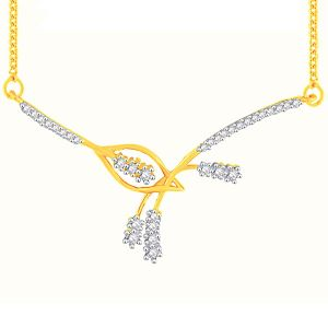 asmi,sukkhi,sangini,lime,sleeping story Diamond Mangalsutras - Asmi Yellow Gold Diamond Tanmaniya YP332SI-JK18Y