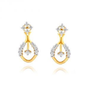 Rcpc,Sukkhi,La Intimo,Estoss,Asmi Women's Clothing - Asmi Yellow Gold Diamond Earrings ADE01353SI-JK18Y