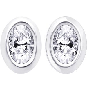 Hoop Silver With Cz Diamond Silver Earring For Womens Ef4117