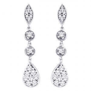 Hoop Silver With Cz Diamond Silver Earring For Womens Ef4444