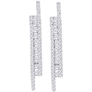 Hoop Silver With Cz Diamond Silver Earring For Womens Ef4919