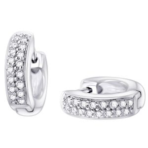Hoop Silver With Cz Diamond Silver Earring For Womens Ef8851