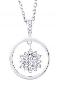 Hoop Silver With Cz Diamond Silver Earring For Womens Ef8858