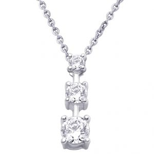 Hoop Jewellery - Hoop Silver  Cz Diamond Silver Pendant For Women Pf4099