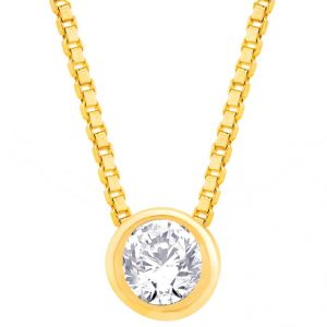 Hoop,Asmi,Kalazone,Unimod,Jpearls Women's Clothing - Hoop Silver  Cz Diamond Gold Plated Pendant For Women Pf4152