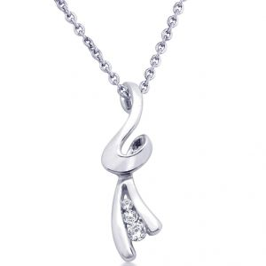 hoop,shonaya,arpera,the jewelbox,avsar Silver Pendant Sets - Hoop Silver  Cz Diamond Silver Pendant For Women Pf4648