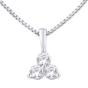 Hoop Silver Cz Diamond Silver Pendant For Women Pf4101