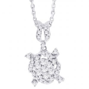 Hoop Silver Cz Diamond Silver Pendant For Women Pf4894