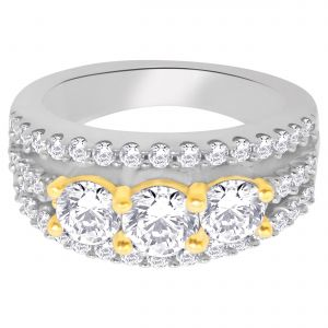 Hoop Silver With Cz Diamond Silver Ring For Womens Re1242