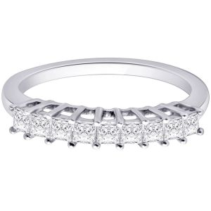 Hoop Silver With Cz Diamond Silver Ring For Womens Rf4087