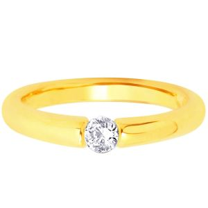 Hoop Silver With Cz Diamond Gold Plated Ring For Womens Rf4154