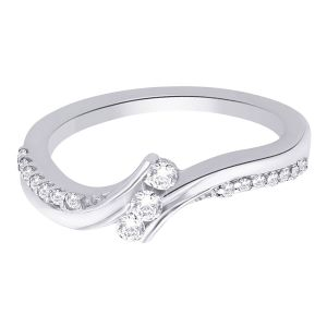 Hoop Silver With Cz Diamond Silver Ring For Womens Rf5011