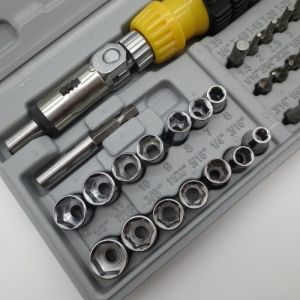 Buy 41pcs Ratchet Screwdriver Spanner Socket Set 1/4