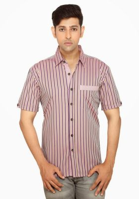 Buy Moksh Striped Casual Cotton Shirt For Mens - (code - V2ims0414ss-115) online