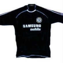 new style aeeed 12088 Chelsea Team Football Jersey Black Color