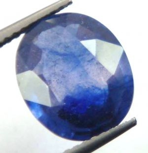Buy Lab Certified 4.66cts{5.17 Ratti}transparent Natural Blue Sapphire/neelam online